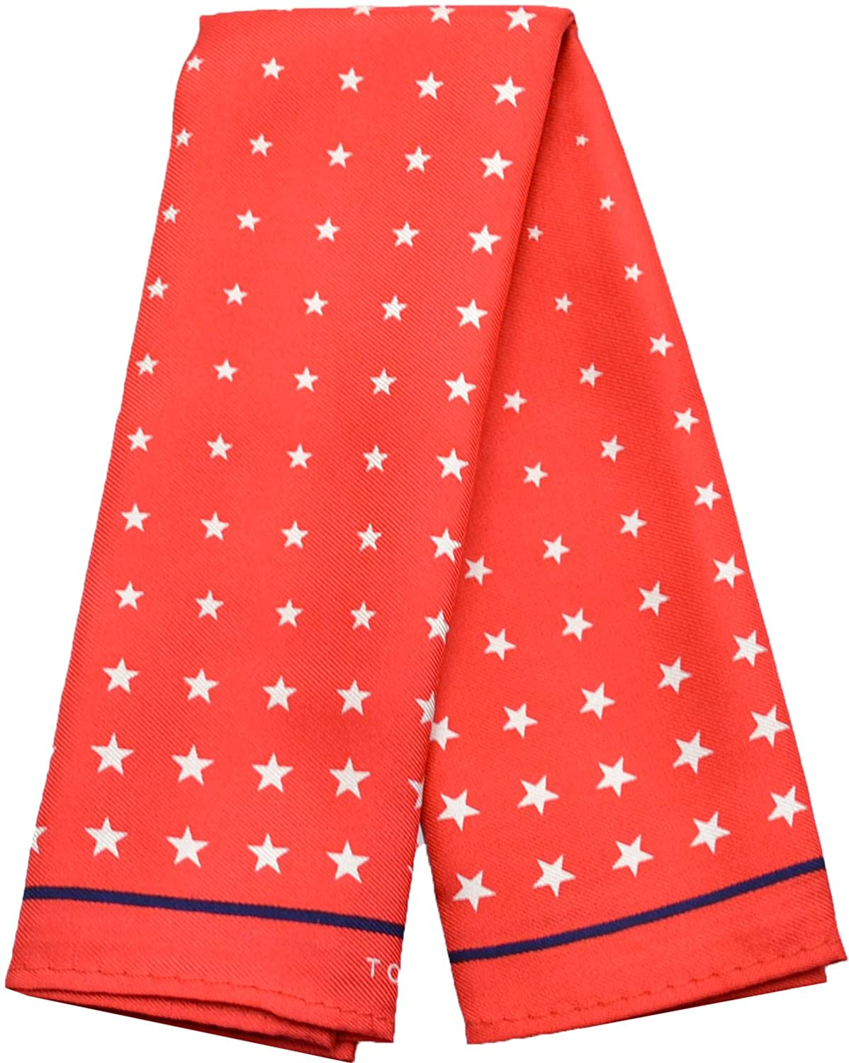 Tommy Hilfiger Men's Star Print Pocket Square (Red)