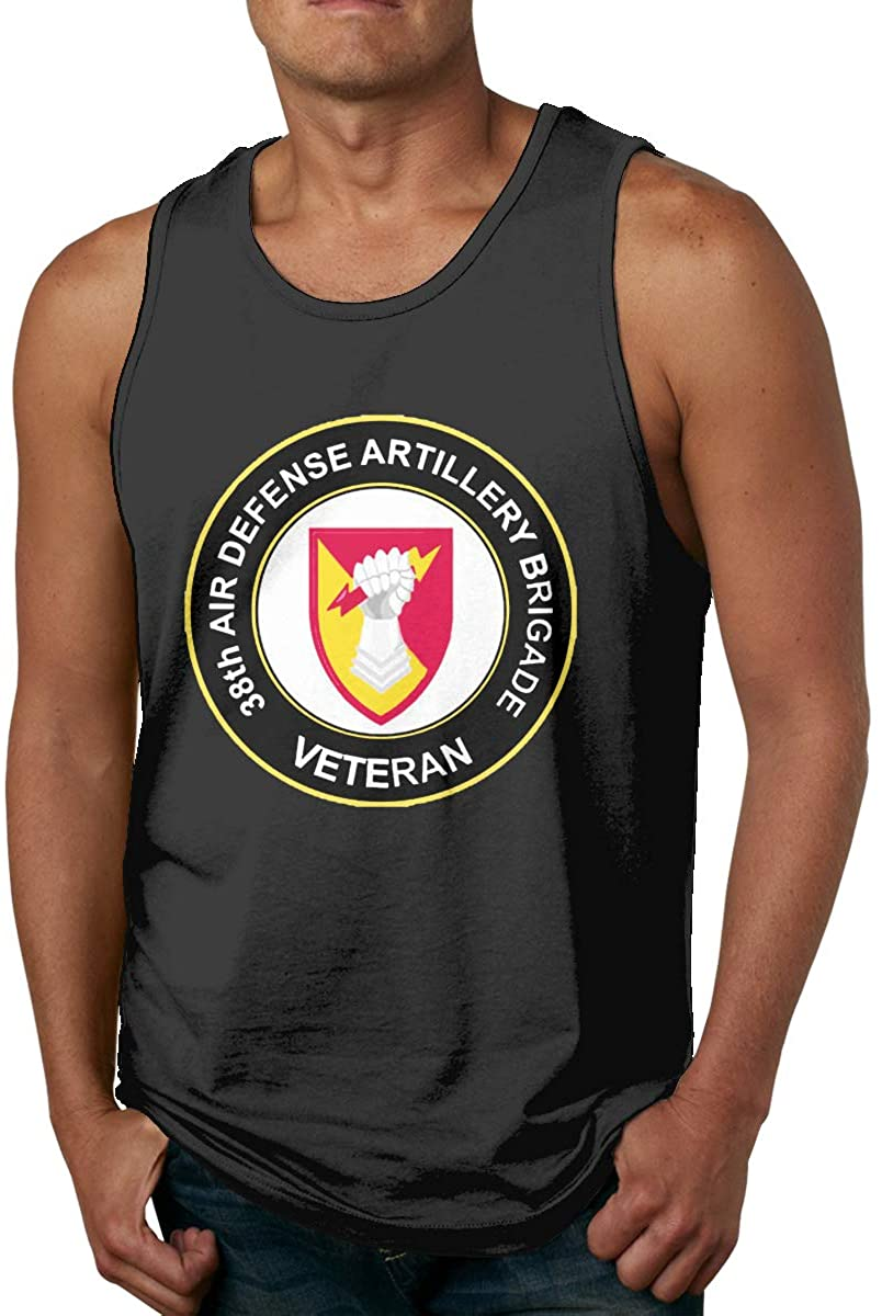 Lfgyuuserg Us Army 38th Air Defense Artillery Brigade Veteran Man's Comfortable Vest Fashion Waistcoat Sleeveless Shirt