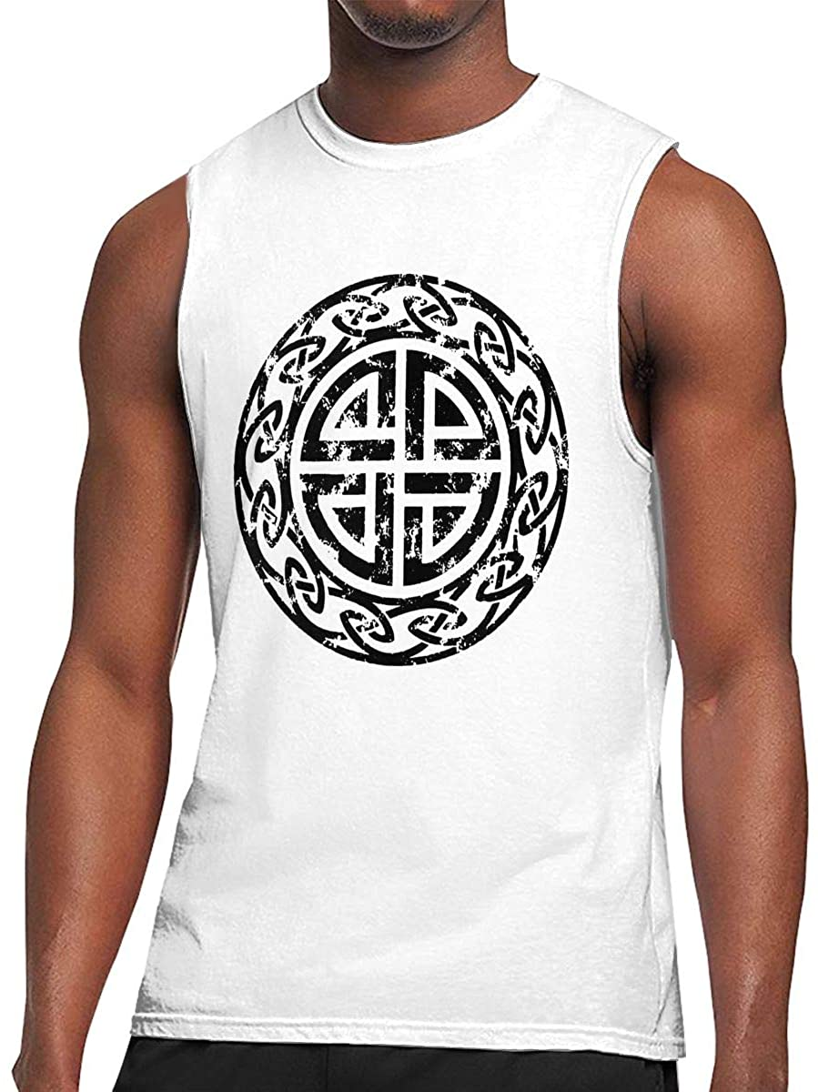 Viking Symbol Athletic Men's Muscle Breathable Lightweight Sleeveless Top T-Shirt