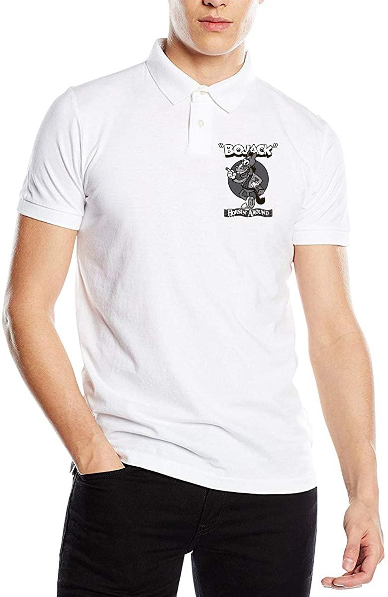 BoJack Horseman Popular Men's Premium Polo Shirt Short Sleeve T-Shirt