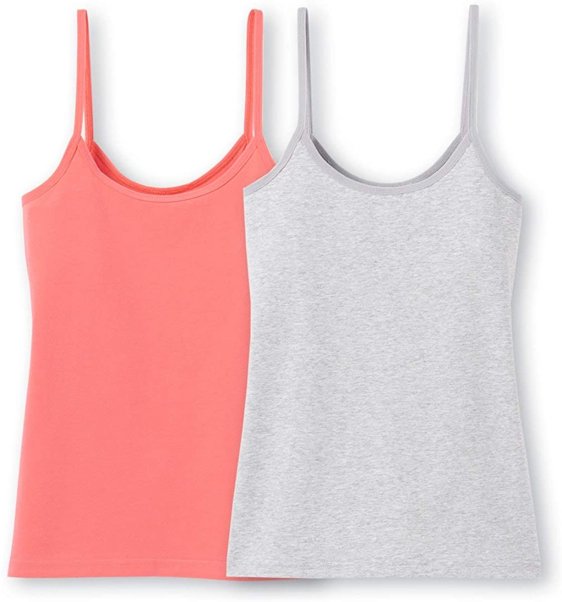 La Redoute Collection Pack of 2 Vest Tops with Shoestring Straps, 10-16 Years