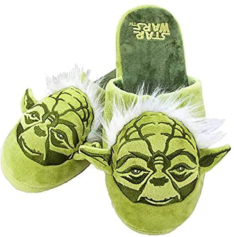 Star Wars Yoda Mens Green 3D House Slippers