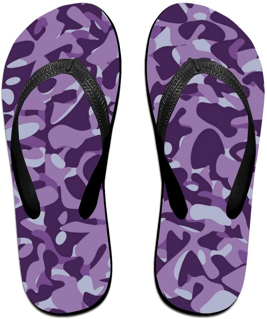 WAY.MAY Military Camouflage Blue Pattern Unisex Flip Flops Slippers Open Toe Beach Sandal