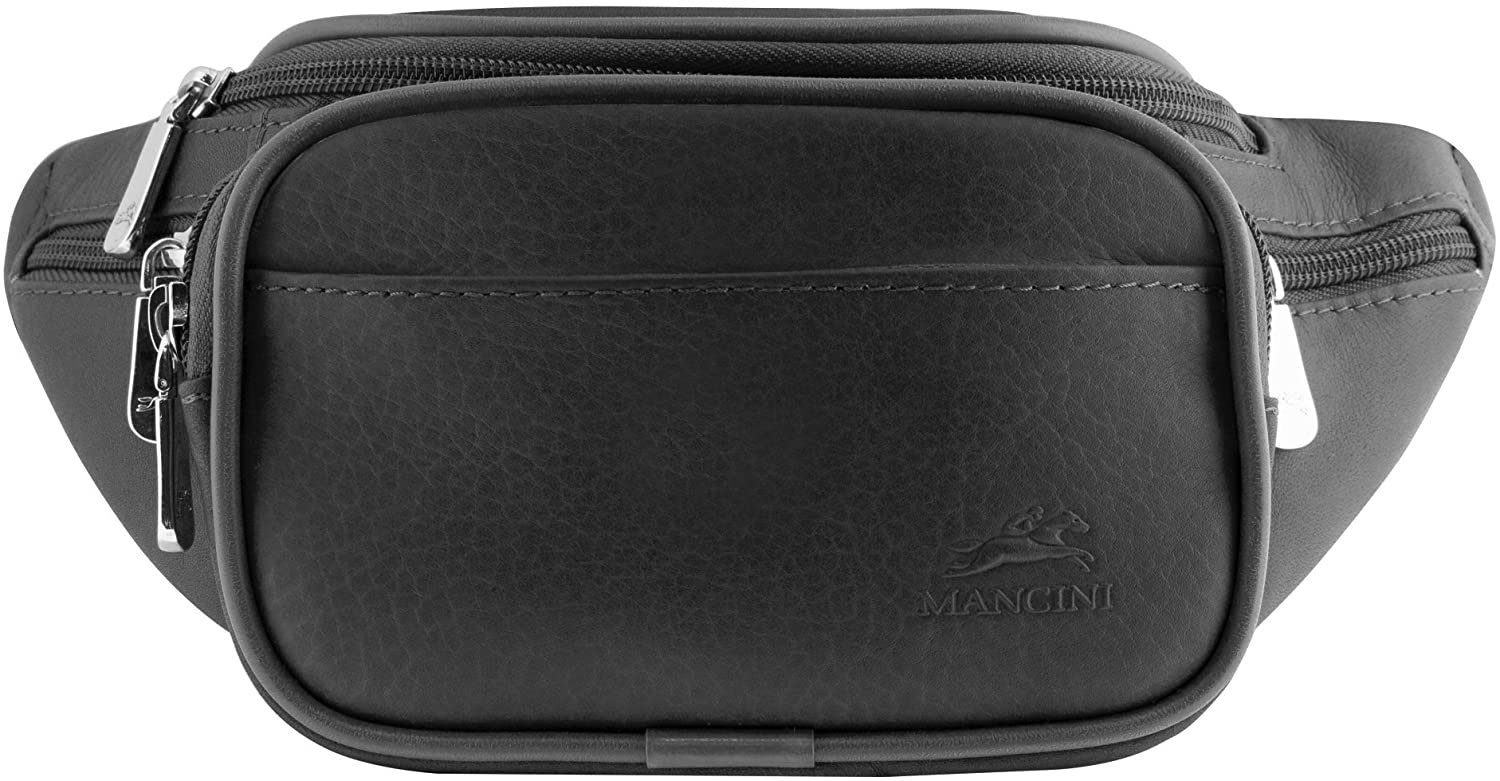 Mancini COLOMBIAN Classic Leather Waist Bag