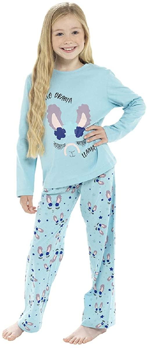 Childrens/Girls No Drama Llama Pyjama Set