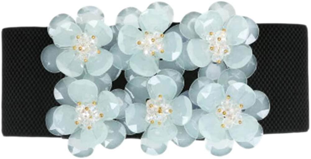 Sweet Flower Dress Decor Waist Sealing Belt Skirt Belt Band Accessory-A05