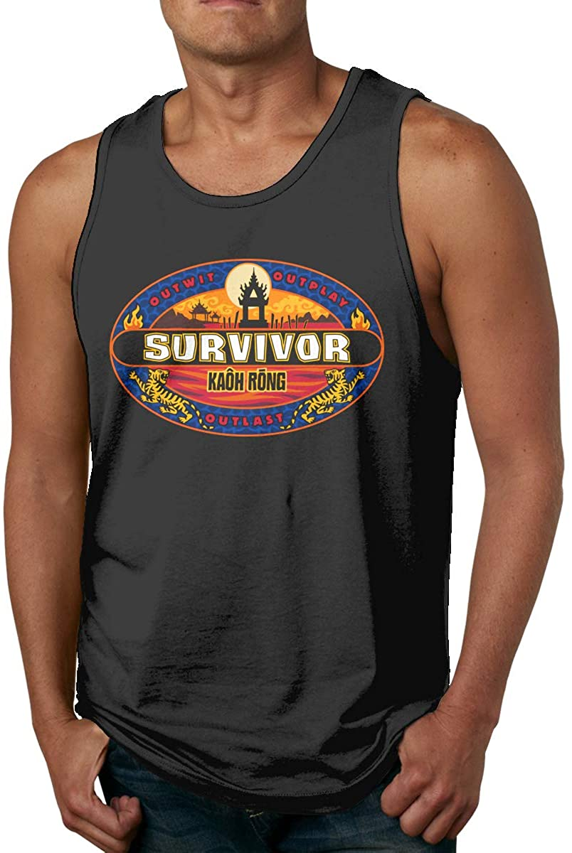 Survivor CBS Tv Television Show Men's Men's Cotton Tank Top Shirt,Worn Outside Or Inside
