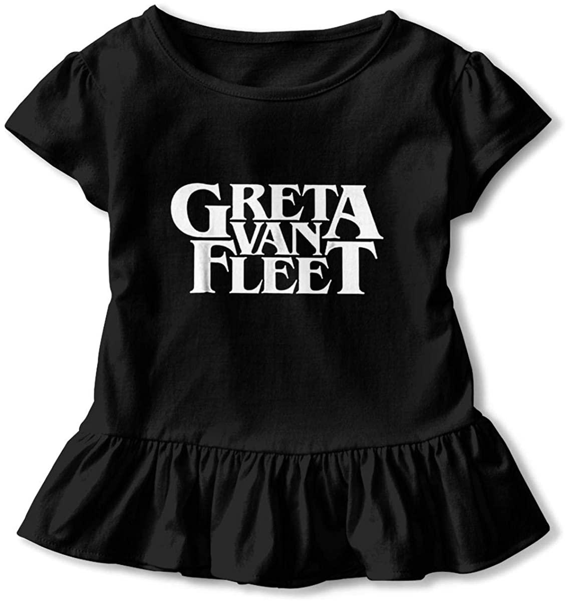 Greta Van Fleet Toddler Girl's Ruffle T-Shirt Short Sleeve 2-6t