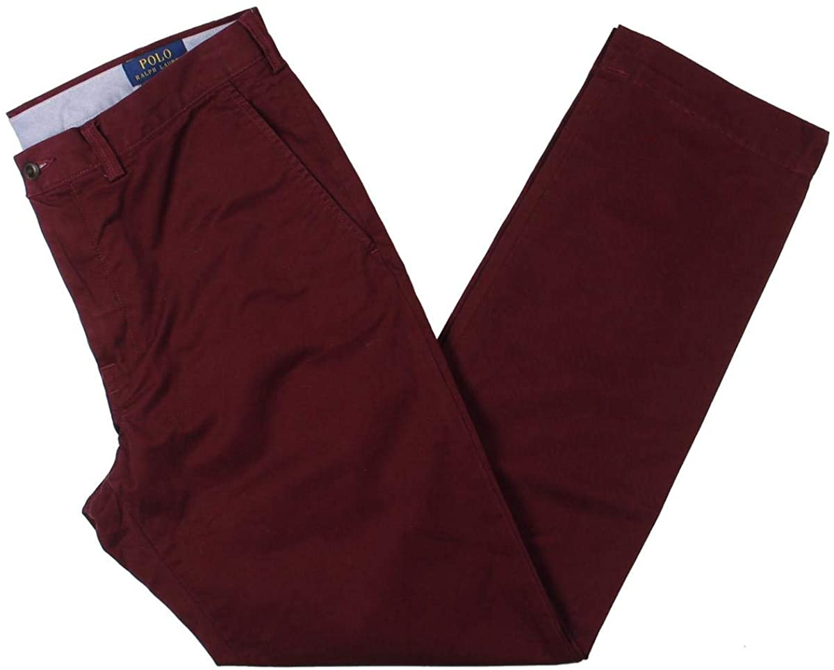 Polo Ralph Lauren Straight Fit Stretch Chino Classic Wine 34