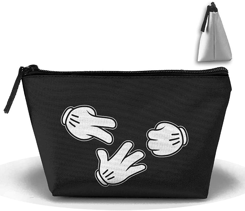 HTSS Rock Paper Scissor Funny Portable Makeup Receive Bag Storage Large Capacity Bags Hand Travel Wash Bag