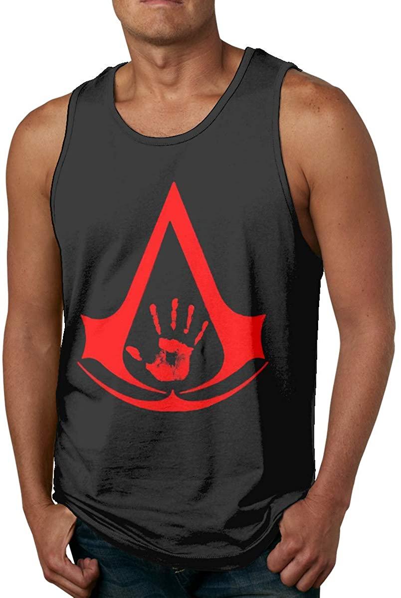Gjfauehf Men Dark Brotherhood Elder Scrolls Men's Cotton Sports Vest, Worn Outside Or Inside