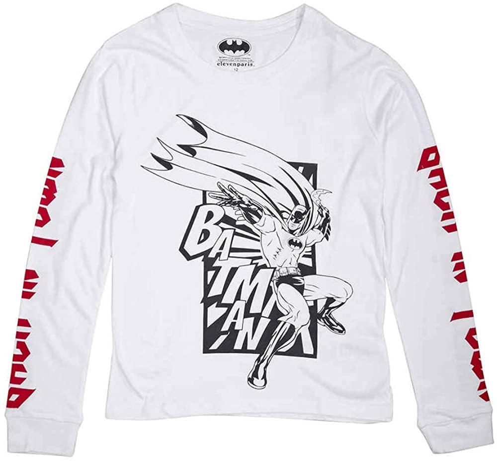 Little Eleven Paris Boys White Batinton T-Shirt, Brand Size 2T (Toddler)