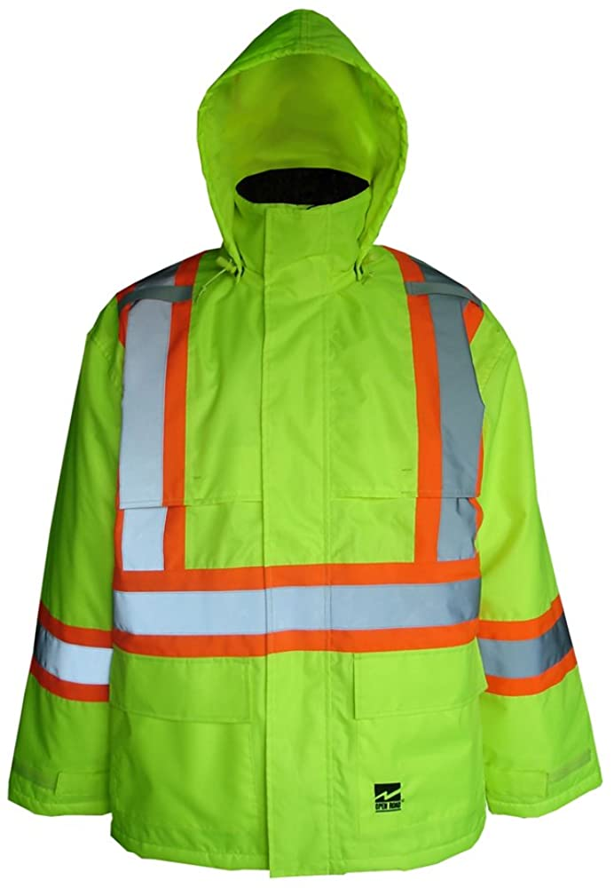 Viking Open Road 150 Denier Insulated Waterproof and Windproof Safety Rain Jacket with 2