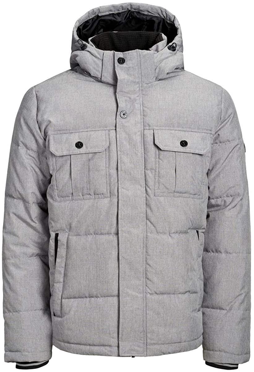 Jack & Jones Men's Will Puffer Jacket, Grey