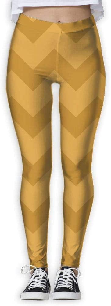 PIOL Womans Yellow Stripes High Waist Skinny Leggings Yoga Jogger Sweatpants