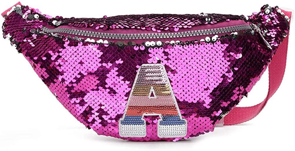Tonwhar Bling Sequins Fanny Waist Pack Kids Glitter Shoulder Chest Bag Purse