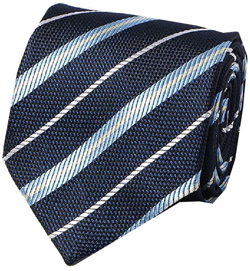 HEFASDM Mens Floral Printed More Choice Modern Business Polyester Silk Necktie