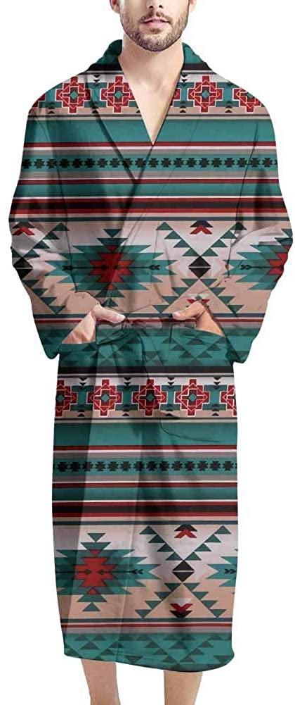 Salabomia Robes for Men Lightweight Bathrobes Pajamas Party Wear Soft Loungewear Knee Length
