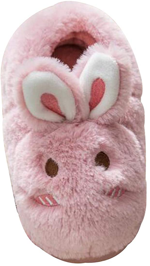 Inlefen Girl Slippers Winter Kids Slippers Boys Warm Indoor Shoes Soft Slippers
