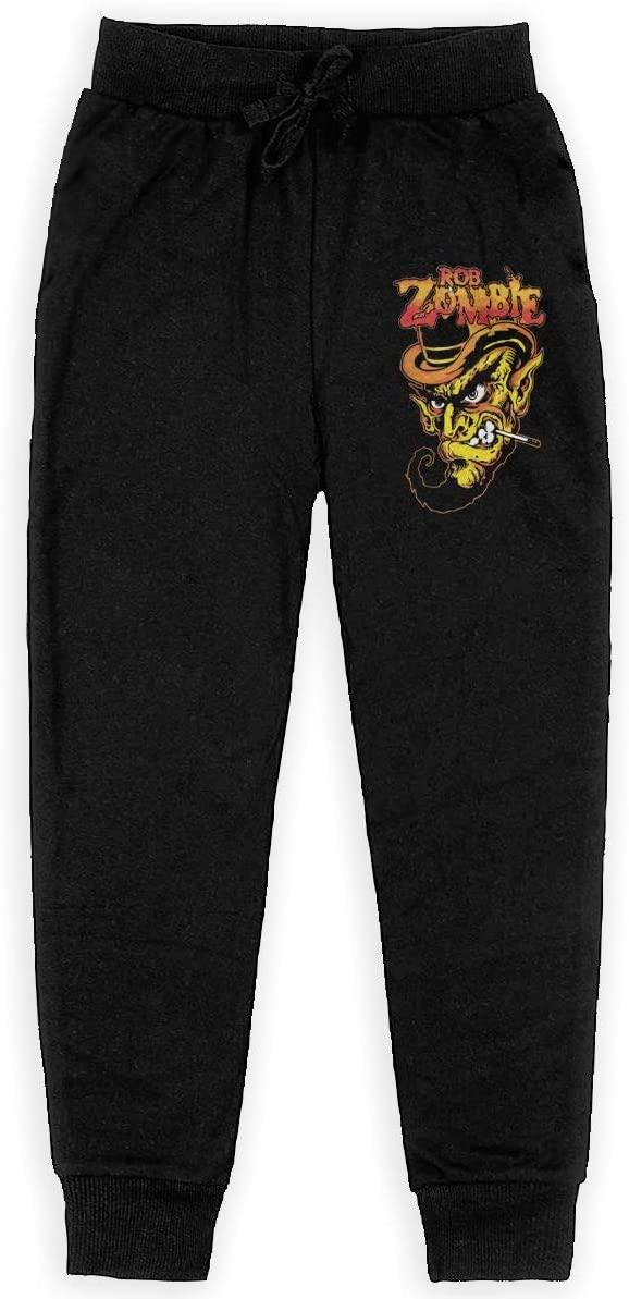 Reneealsip Rob Zombie Boys Pocket Sweatpants Boys Casual Soft Cotton Jogging Pants