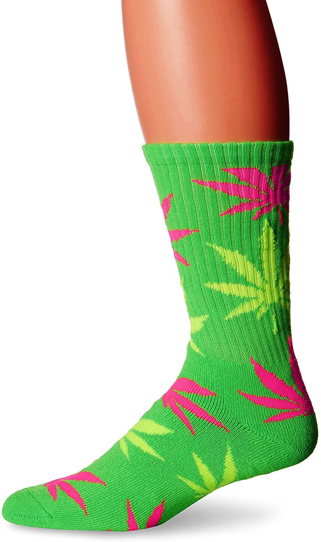 HUF Men's Neon Plantlife Socks