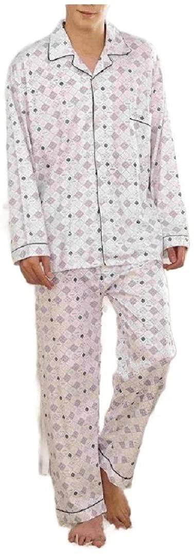 Zimaes Men Loungewear Summer Everyday Cotton 2 Piece Set Pajama Sleep Set