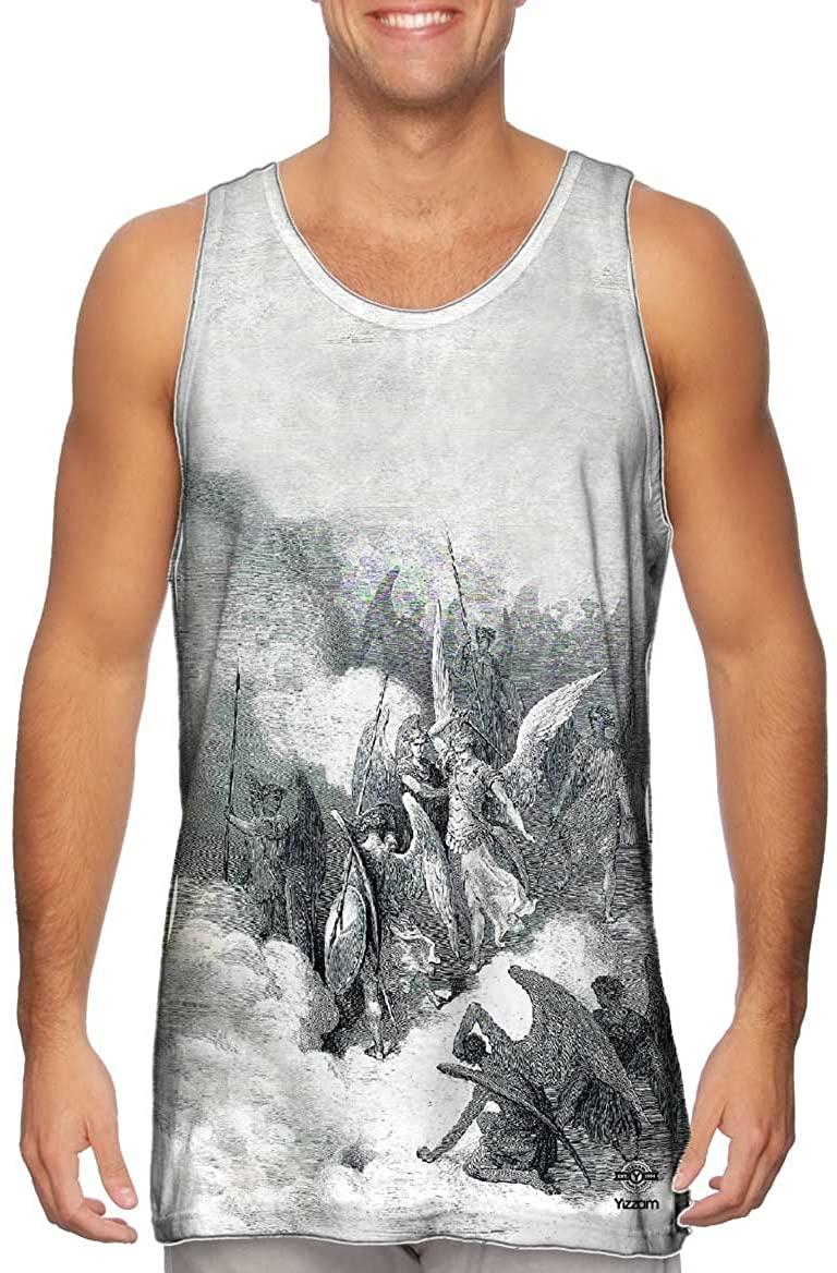 Yizzam- Gustave Dore - Abdiel and Satan (1868) -Tshirt- Mens Tank Top