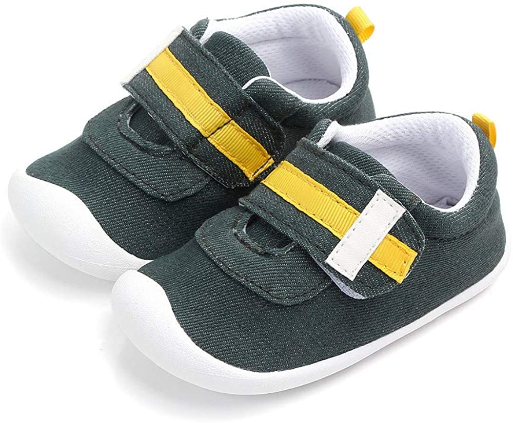 Meckior Toddler Baby Boys Girls Cotton Sneakers Breathable Non-Slip Soft Rubber Soles Lightweight Trainers First Walkers for Walking Running