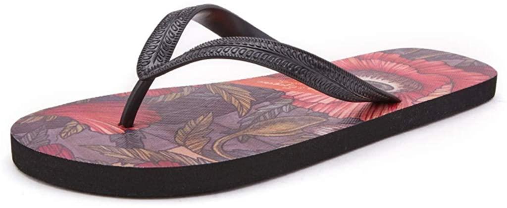 WXFF Non-Slip Men's Flip-Flops Summer Flip-Flops Beach Light Sandals and Slippers Indoor and Outdoor Fashion Everyday Flip Flops