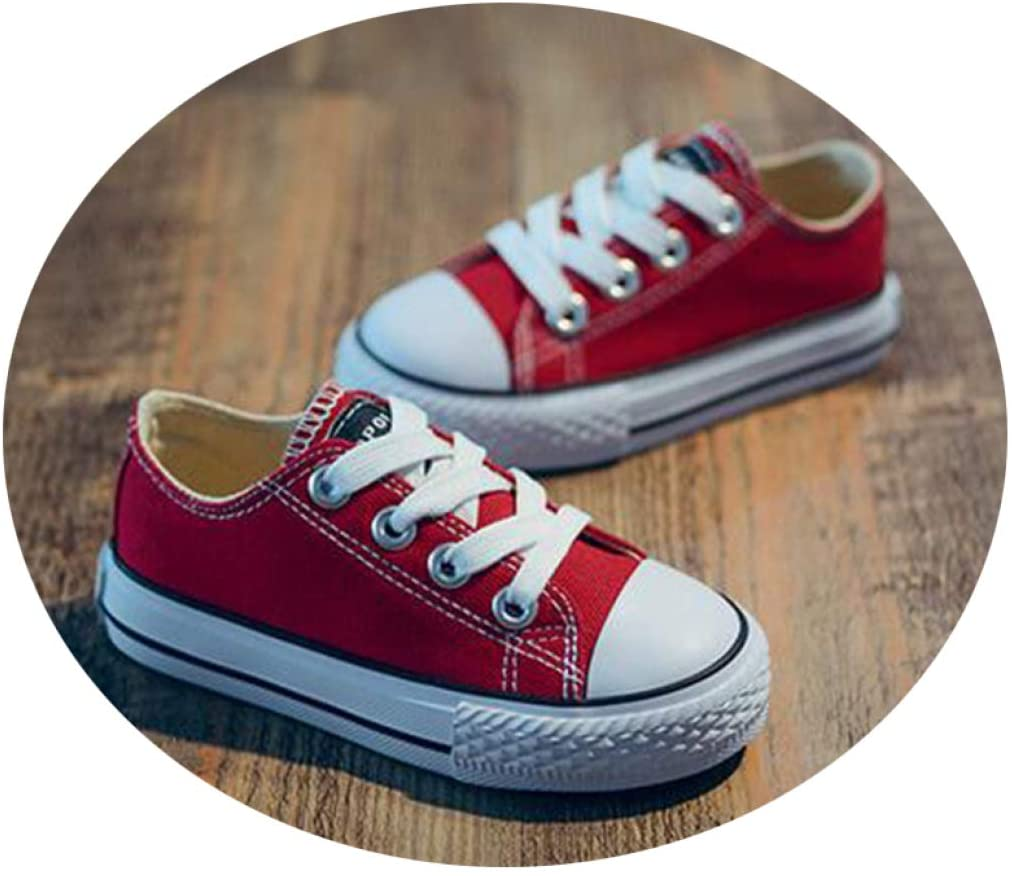 Wilbur Gold Children's Shoes Boys and Girls Low-top Canvas Shoes Spring and Autumn Breathable Anti-Skid School Shoes