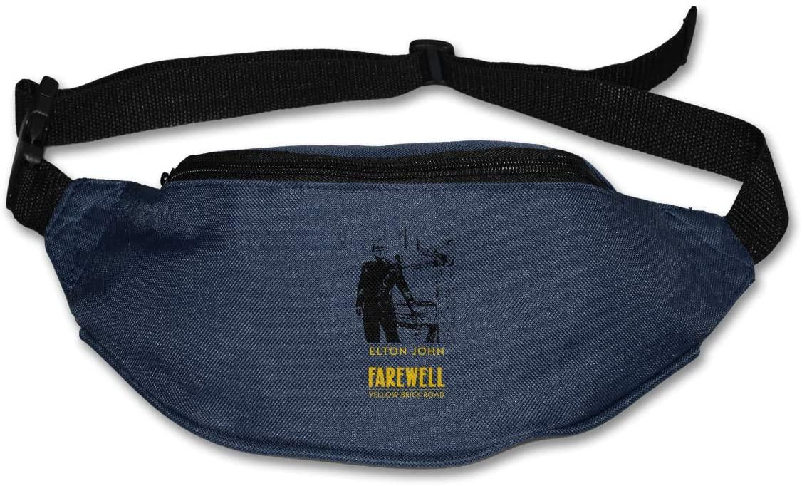 Edgergery Elton Farewell Tour Yellow Brick John Runner's Waist Pack Purse Belt Bag