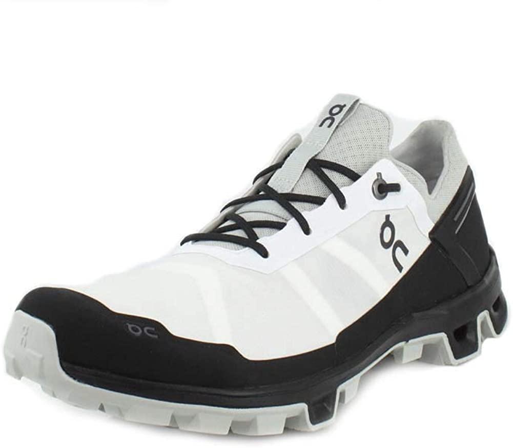 On-Running Mens Cloudventure Peak White/Black Running Shoe - 10.5