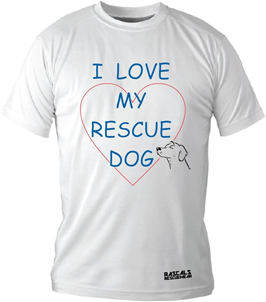 I Love My Recue Dog and Puppy Rescue and Adoption Themed Clothing