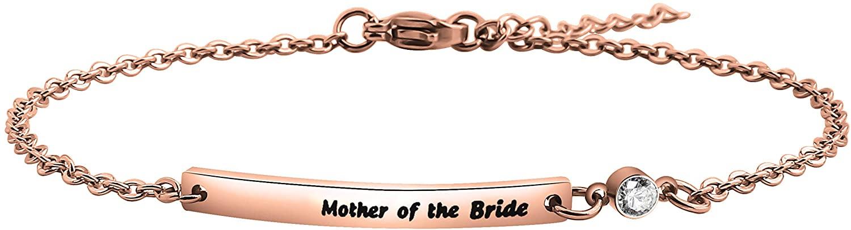 KUIYAI Mother of Bride and Mother of Groom Bar Bracelet Wedding Bracelet