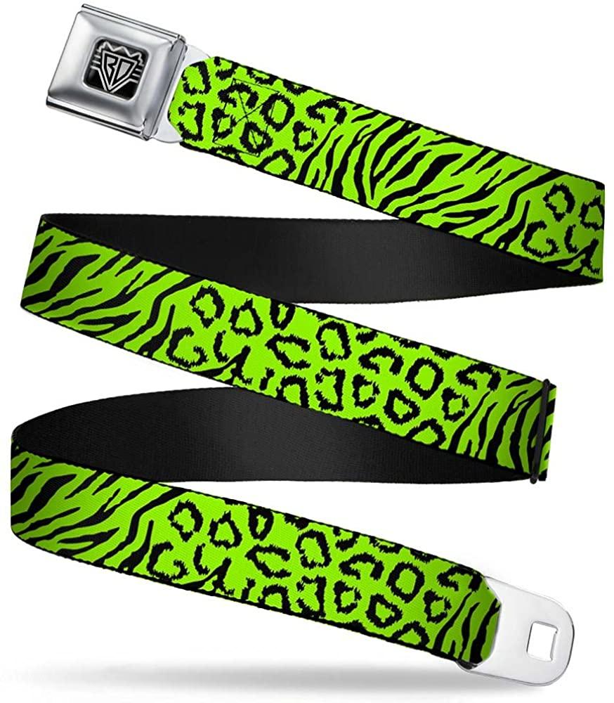 Buckle-Down Seatbelt Belt - Cheebra Green/Black - 1.5