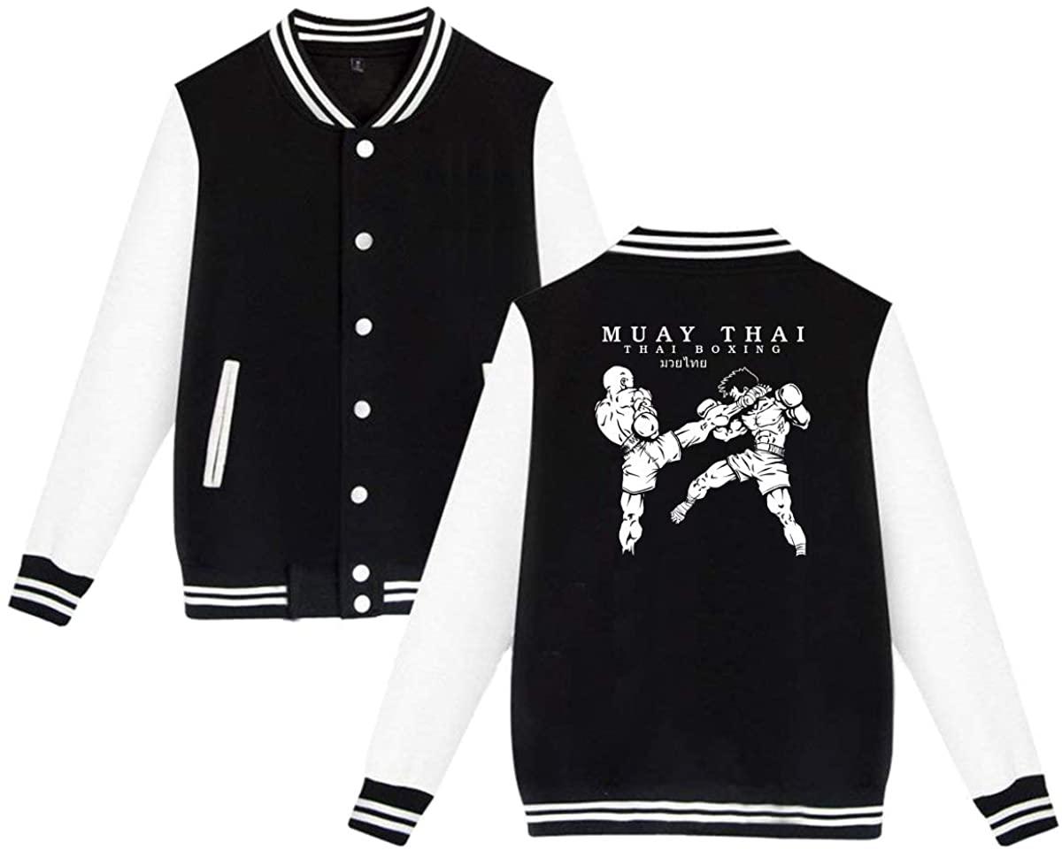 1836 Muay Thai Boxing Kick Logo Unisex Baseball Jacket Varsity Jacket