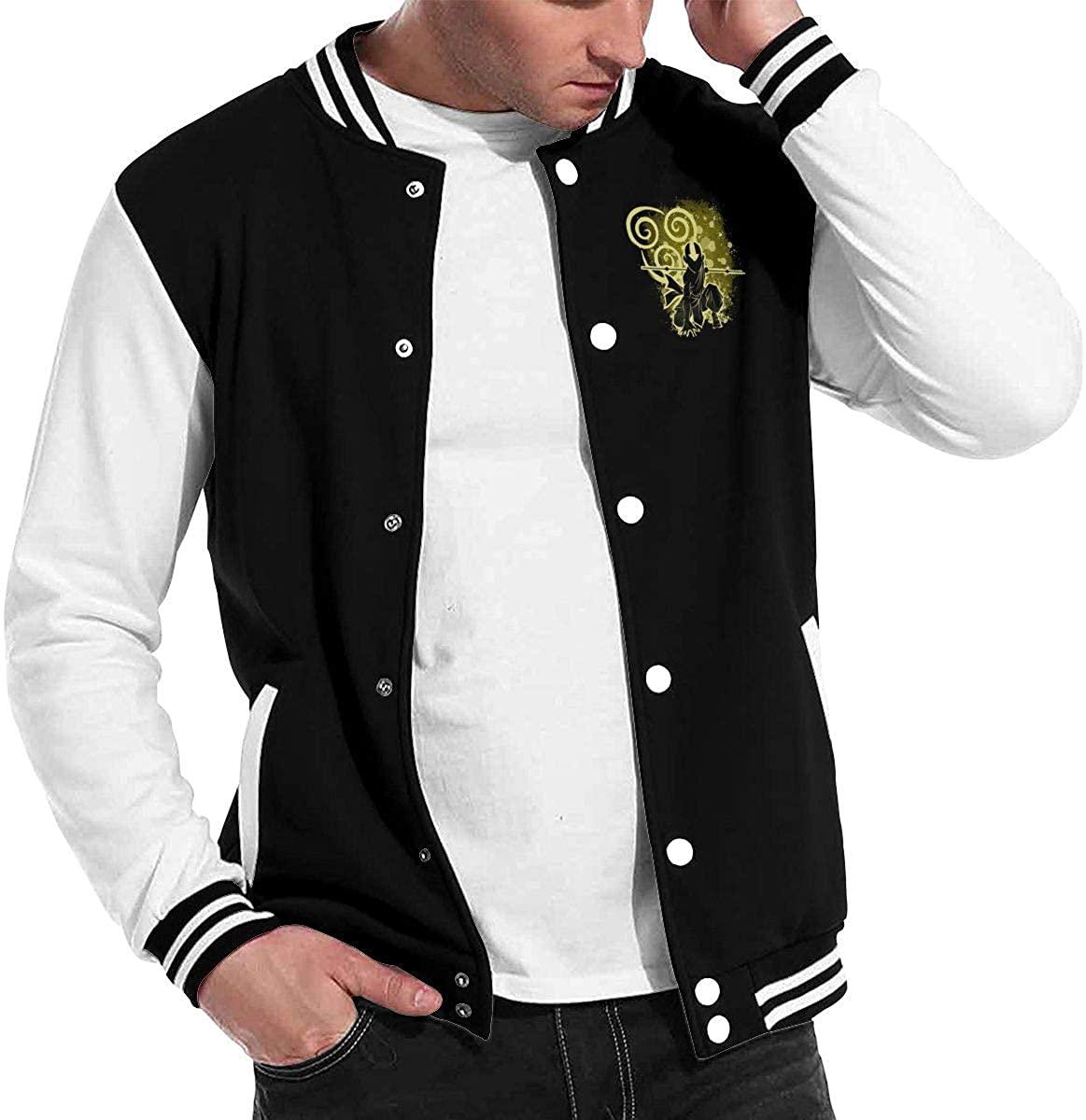 Avatar The Last Airbender Unisex Hipster Baseball Uniform Jacket Sport Coat Black Black