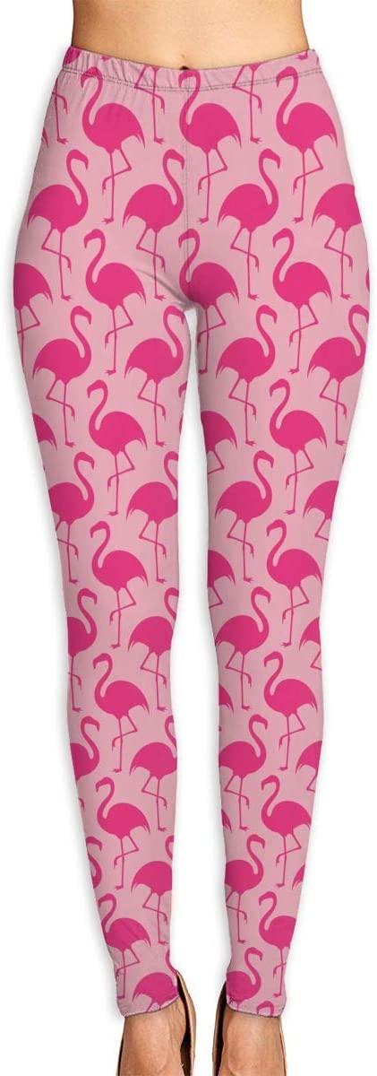 ZZATAA Womans Flamingos Elastic Waist Pencil Yoga Pants Yoga Leggings