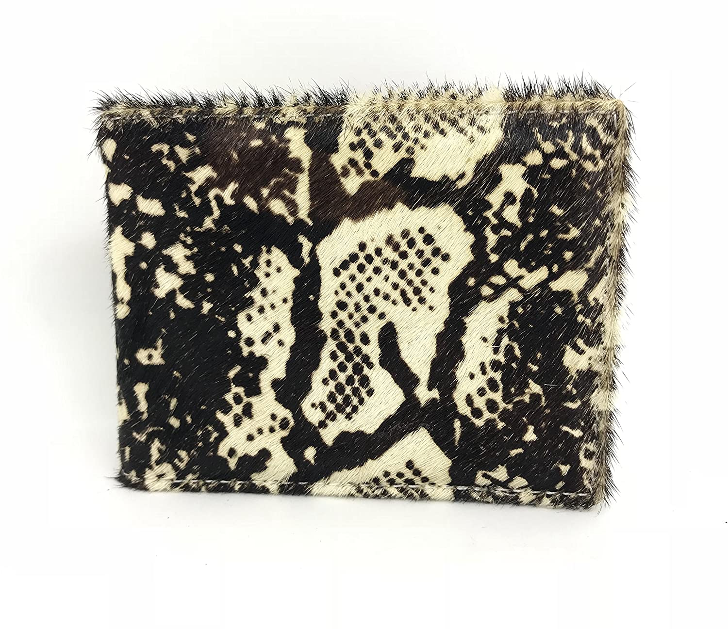 Genuine Cow Hair Leather Wallet Money Clip Credit Card