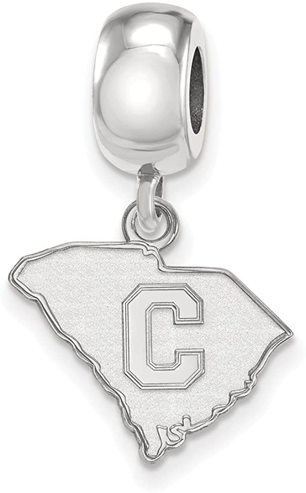 Bead Charm White Sterling Silver South Carolina NCAA The Citadel 25 mm 15