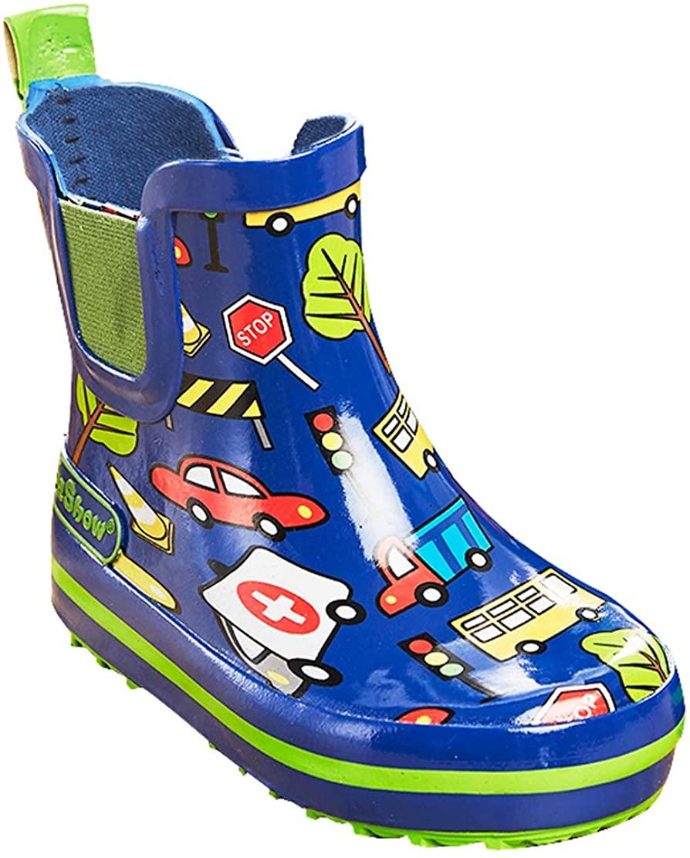 Cwait Kids Anti-Slip Waterproof Cute Rain Boots for Girls Boys