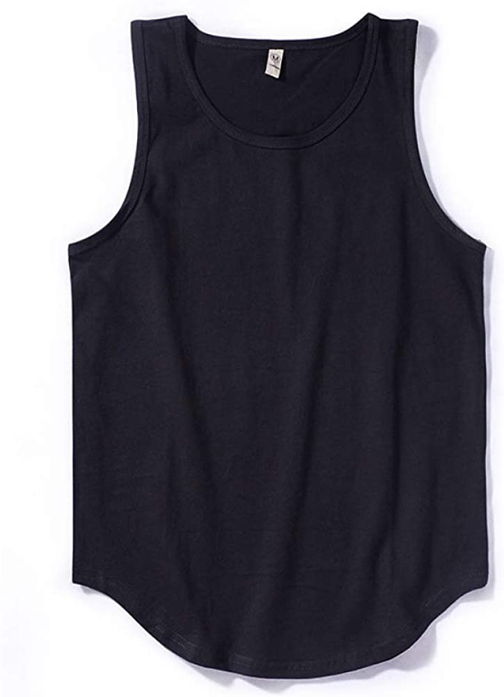 HOSD Solid Color I-Shaped Vest Male Cotton Sleeveless T-Shirt Bottoming Sweat Vest Male Tide
