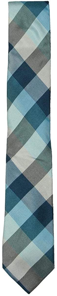 Ryan Seacrest Distinction Mens Weho Silk Check Regular Tie Blue O/S