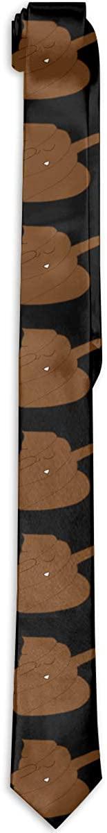 Dabbing Poop Mens Classic Tie Skinny Necktie Neckwear