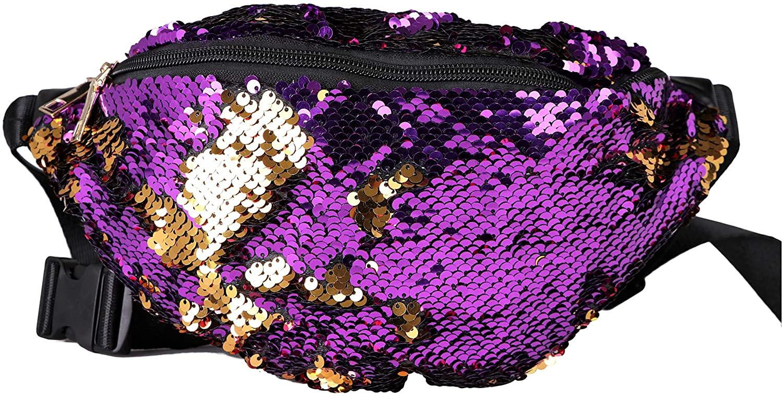 Arsimus Sequin Fanny Pack (Purple)