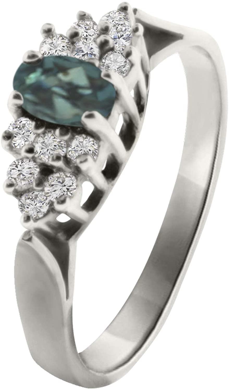 Alexandrite Ring | Designed by Ellen Natural Color Changing Brazllian Alexandrite Diamond Ring in 14k Gold