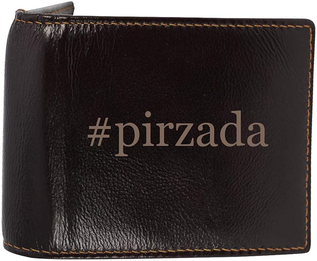 #pirzada - Genuine Engraved Hashtag Soft Cowhide Bifold Leather Wallet
