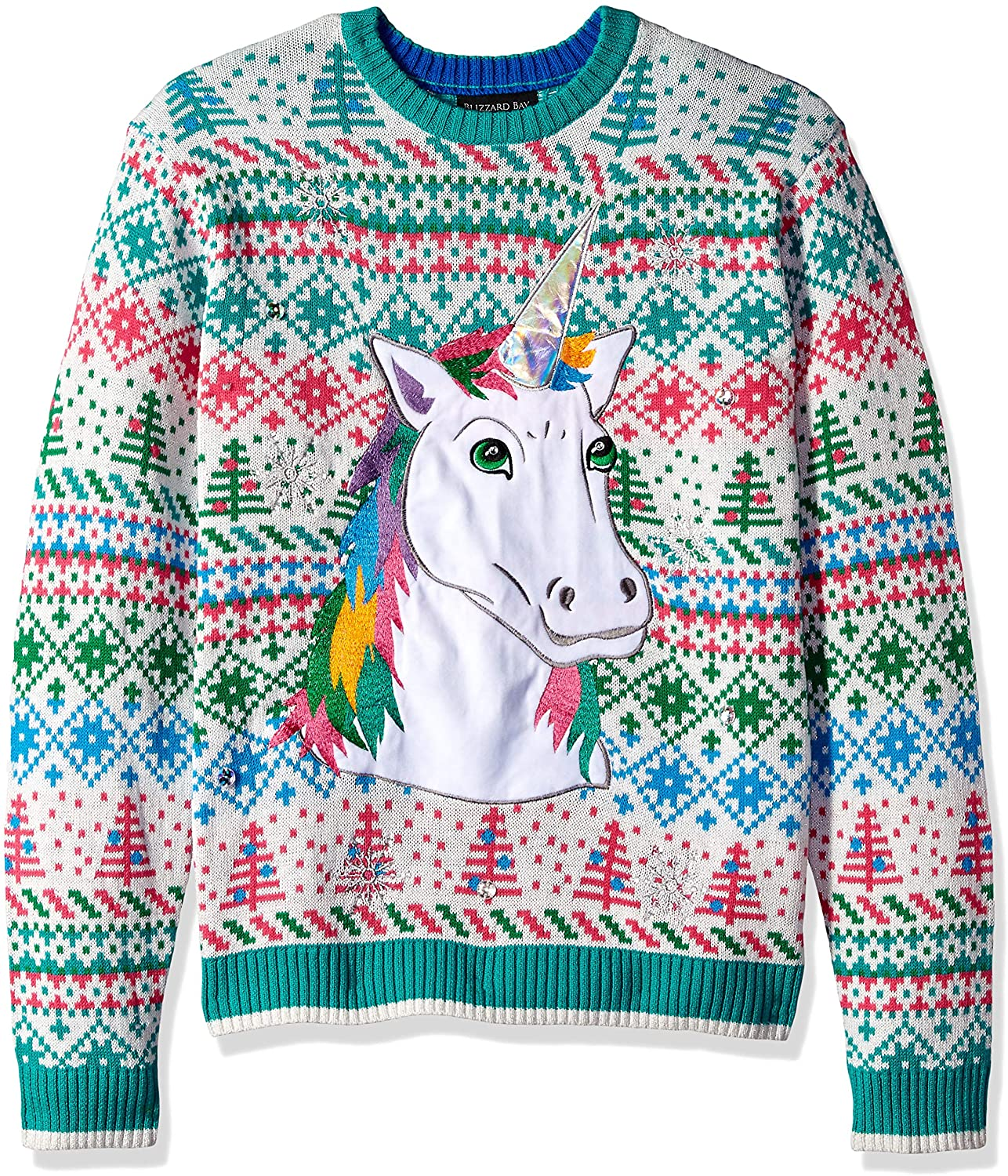 Blizzard Bay Men's Ugly Christmas Sweater Unicorn