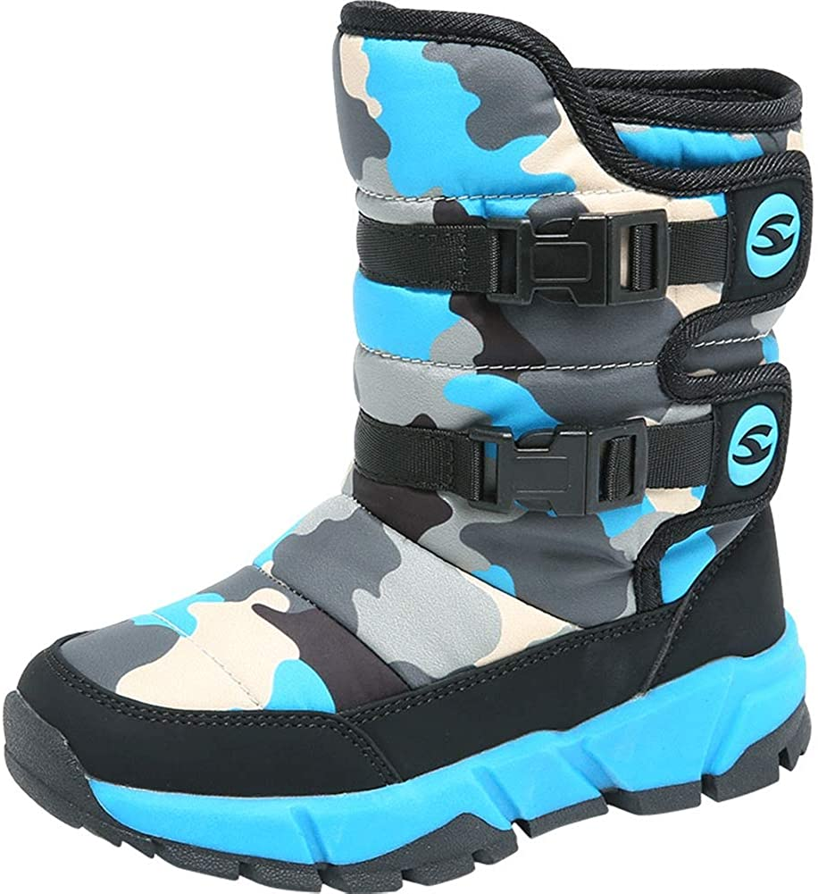 Icegrey Boys Snow Boots Winter Anti Slip Cold Weather Shoes Camouflage