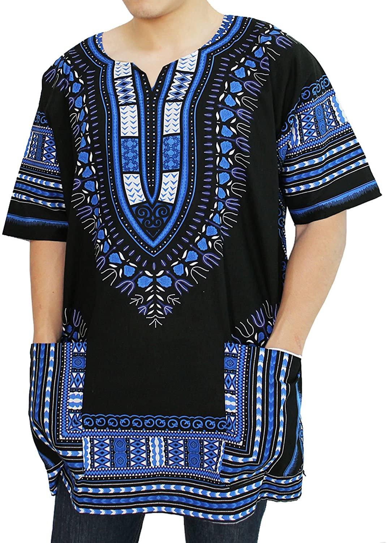 PAGADA BRAND African Dashiki Shirts Collection, Angelina print 100% Cotton, M - XL Size.